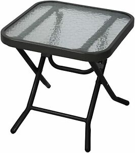 Folding Outdoor Side Table Coffee Weatherproof Garden Patio Camping Dining Party