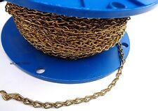 200 Foot Reel ACCO Brass Plate #16 Double Steel Decorative Jack Chain 2608-61615