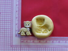 Baby Leopard Cat Silicone Mold A916 Chocolate Fondant Miniature Baby Shower
