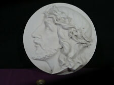 médaillon porcelaine biscuit de SACHSEN germany Christ début XXéme
