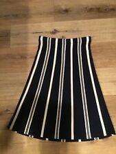 NWOT Ann Taylor LOFT Vertical   Navy Striped Skirt Elastic Waist Knit Midi sz XS