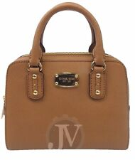 NEW WOMENS MICHAEL KORS SAFFIANO MINI SATCHEL MK LOGO ACORN BAG PURSE
