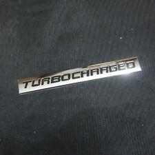 1x Metal Chrome TURBOCHARGED Emblem Badge Sticker Track Sport Premium 3D Limited