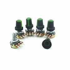 B100K OHM 3 Terminal Linear Taper Rotary Volume B Type Potentiometer Pot  5pcs