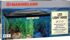 Marineland LED Light Hood for Aquariums, Day & Night  24 by 12-Inch