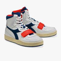 Diadora Mi Basket Used, Scarpa Diadora ragazzo con strap rosso, scarpa ragazzo