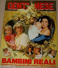 GENTE MESE=1989/2=BAMBINI REALI=MONARCHIA=KIS CHILDREN MONARCHY=SAVOIA=