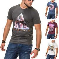 Jack & Jones Herren T-Shirt Print Shirt Herrenshirt Kurzarmshirt Casual SALE %