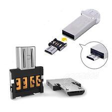 2 UNIDADES Micro USB Macho a USB Hembra OTG Adaptador Del Convertidor