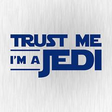 Trust Me I'm a Jedi Star Wars Satire Fun Blau Auto Vinyl Decal Sticker Aufkleber