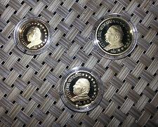 Vatikan 2002 10 Cent, 20 Cent, 50 Cent polierte Platte Original