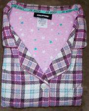 Joe Boxer 1X Flannel Pajama set -Burgundy plaid