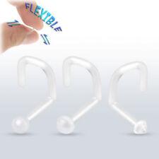 Gioielli trasparente del naso per il corpo calibro 18g (1 mm)