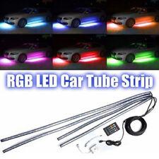 4x RVB LED sou la bande Underglow corp Light Kit App contrôle de tube de voiture