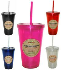 16 oz. Acrylic Tumbler Cup & Matching Lid & Straw - Good Life Gear BPA-Free