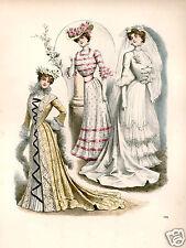 Ladies Vintage Edwardian Wedding portrait Art Print 10x8 fashion shabby chic
