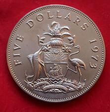 1973 Bahamas ISLANDS 42g Argento Sterling proof-like $5 CINQUE DOLLARI MEDAGLIA