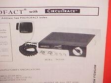 1978 MOTOROLA CB RADIO SERVICE MANUAL MODELS T4000A T4005A T4010A T4020A