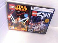 LEGO STAR WARS & LEGO STAR WARS II PC 2 GAME BUNDLE TESTED WORKING FAST SHIP!