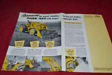 Case Tractor 420 Industrial Tractor Loader Dealer's Brochure YABE15