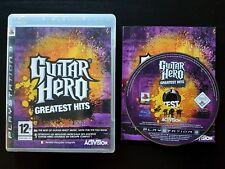 GUITAR Hero: GREATEST HITS-PlayStation 3-buone condizioni-libero VELOCE P & P