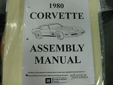1980 CORVETTE (ALL MODELS) ASSEMBLY MANUAL