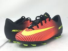 NIKE Mens Big Boys Mercurial Vapor 831945-870 Red Soccer Futbol Cleats sz 11.5C