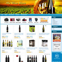 WINE STORE: Fully Functional eCommerce Affiliate Website For Sale - FREE Domain!