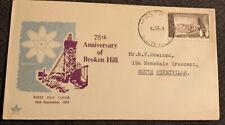 1958 75th Anniversary Of Broken Hill Fdc Royal South Hurstville Nsw