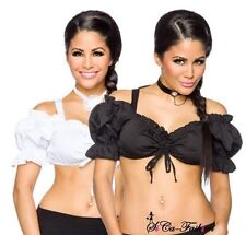 Kurzarm Damenblusen, - tops & -shirts ohne Kragen aus Polyester