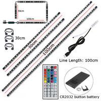 TV LED Backlight 2x50CM+2x100CM USB RGB 5050 Strip Light Remote Kit 5V 60Leds/M