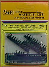 Czech Master Bullone con Testa Esagonale Bullone 2.0 mm x 44 # 006