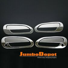 Chrome 304 Stainless Steel Side Door Handle Cover Keyhole For 98-02 Honda Accord