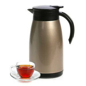 Royalford Flask Insulated Vacuum Jug Thermal Carafe 24 Hour Heat & Cold 1L