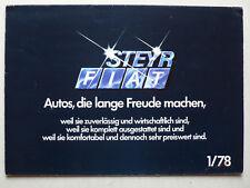 Prospekt Steyr-Daimler-Puch AG Fiat Progamm mit 133, X 1/9, 3.1978, 8 Seiten