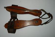 Antique Ice Skates Leather & Wood
