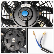 "16"" Universal Slim Electric Cooling Radiator Fan Push Pull 12V 80W &Mounting Kit"