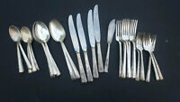 Art Deco Silver Plate Wallace XXXX Harmony House Personality 39 Piece Mixed Lot,