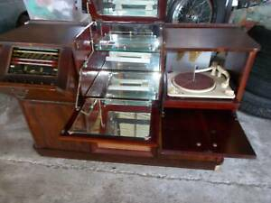 VINTAGE CLASSY RADIOGRAM ARMSTRONG RADIO COLLARO CONQUEST RECORD PLAYER $3250