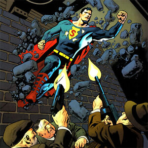 """SUPERMAN Signed ART PRINT Kevin Nowlan UNCHAINED #4 Cover SDCC 2015 New 17 x 11"""""""