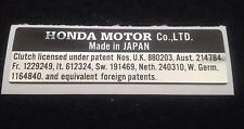 "HONDA ST70 ST50 DAX Z50 ""HONDA MOTOR Co"" FRAME RESTORATION DECAL"