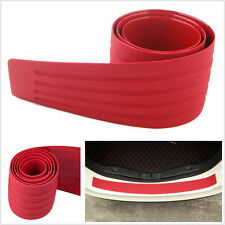 90x8cm Red Rubber DIY Car SUV Rear Bumper Sill Protector Scratch Guard Trim Pad