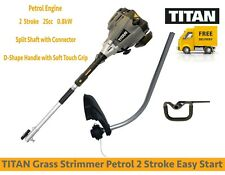 TITAN Petrol Grass Strimmer Tap & Go Line Feed Easy Start 2 Stroke 25cc 0.8kW