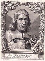 Portrait XVIIIe Giovanni Francesco Barbieri Le Guerchin il Guercino Peintre