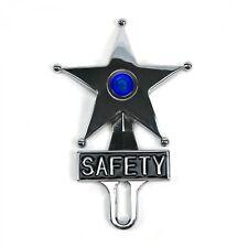 Blue Dot Vintage Style Safety Star Lighted License Plate Topper,Bomber,Led Sled