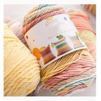 100g Soft Cotton Hand Knitting Crochet Thread Yarn Crafts Tatting Embroidery