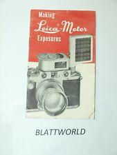 LEICA METER  EXPOSURE METER LIGHT METER NEW INSTRUCTION MANUAL GUIDE BOOK