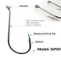 Lot 50pcs Octopus Fishing Hook High carbon steel Saltwater Bass hooks 1#-8/0#