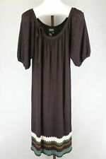 Adriana Papell Brown Striped Sweater Dress Size 2X