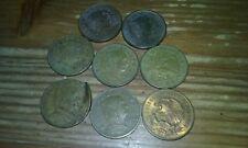 Eight .05 coins Mexico 1950s